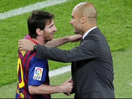 Pep Guardiola and Lionel messi could yet be reunited at the Etihad