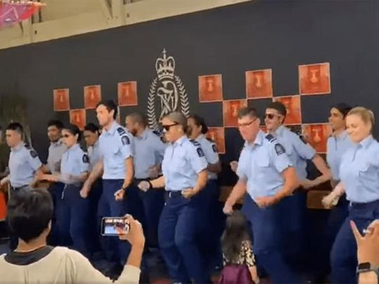 Video: New Zealand cops dance to Bollywood song