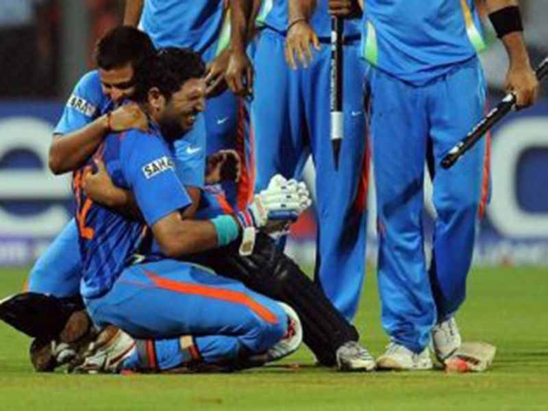 Yuvraj Singh after helping India to the historic ICC World Cup 2011