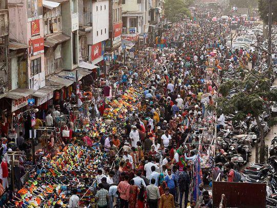 Ahmedabad Gujarat India crowd diwali