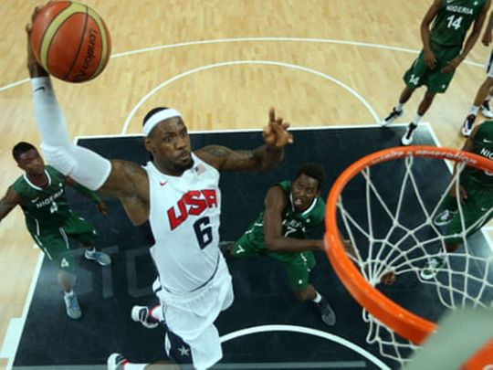 LeBron James in action at London 2012