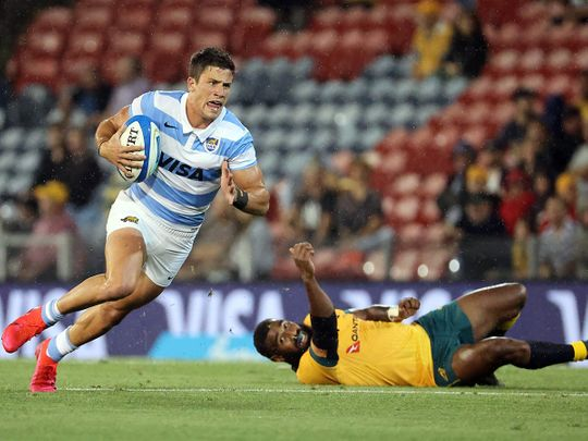 Argentina held Australia to a 15-15 draw in Newcastle during the Tri-Nations