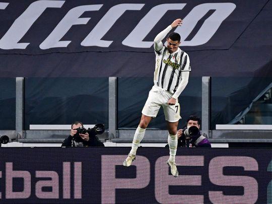Ronaldo scored twice against Cagliari