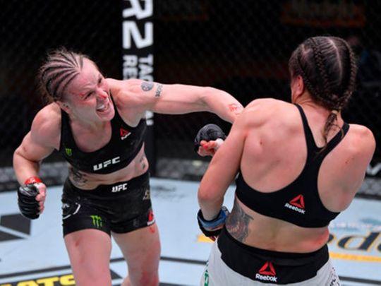Valentina Shevchenko defeated Brazil's Jennifer Maia at UFC 255