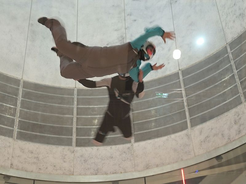 We tried the world's largest indoor skydive tunnel in Abu Dhabi