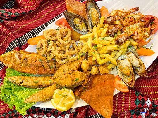 Al Dafra Seafood eatery in Al Mina in Abu Dhabi