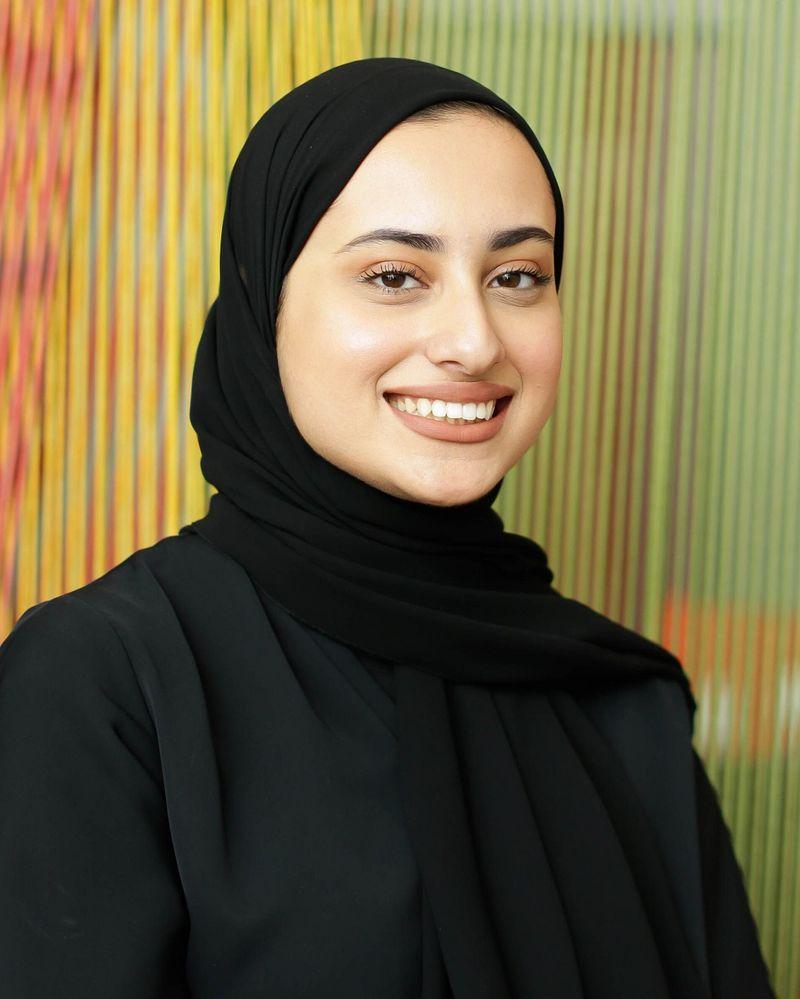 Emirati spoken word poet Hoor Ali Al Nuaimi