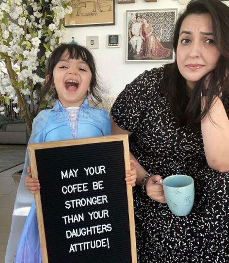 Faiza shares her motherhood journey on @Faizaali on Instagram
