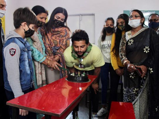 Suresh Raina marks 34th birthday by pledging aid to 34 schools in India