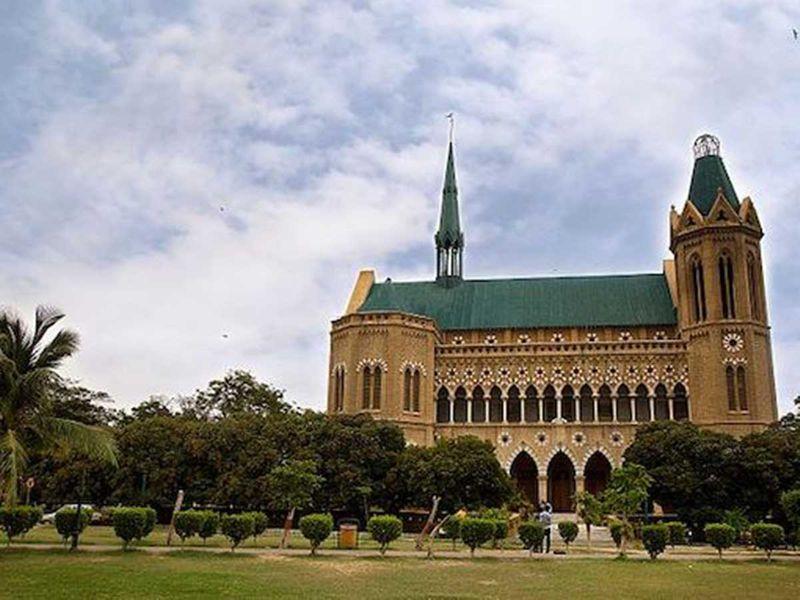 Frere Hall building in Karachi.