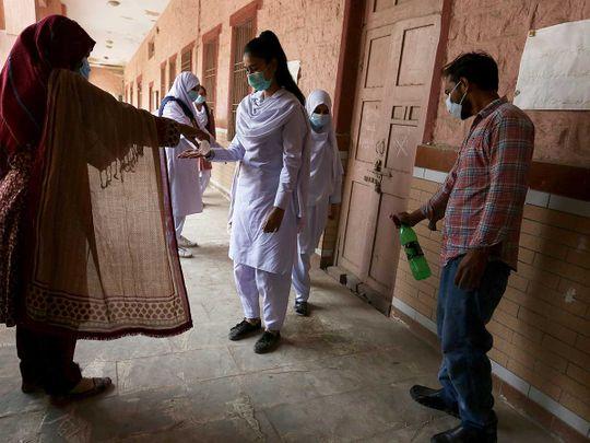 Pakistan school covid sanitise