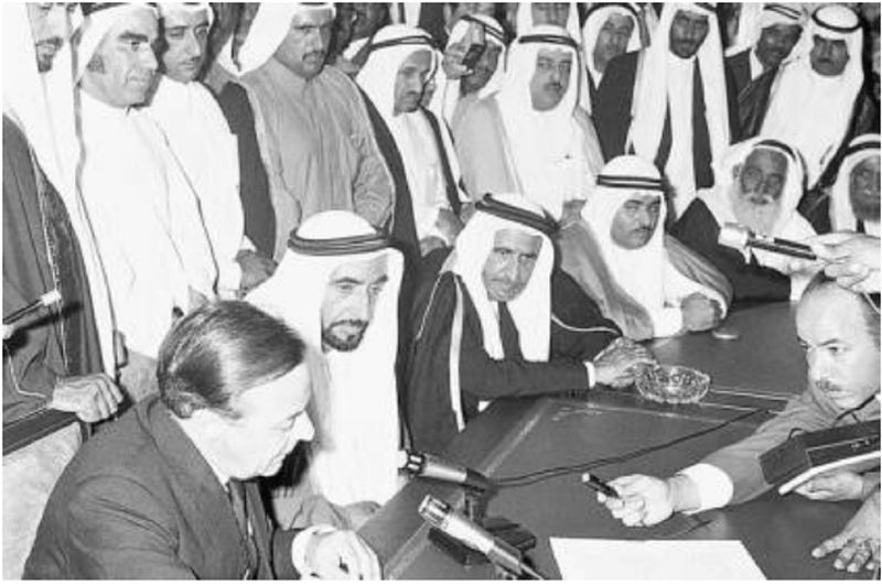 Sheikh Zayed and Sheikh Rashid