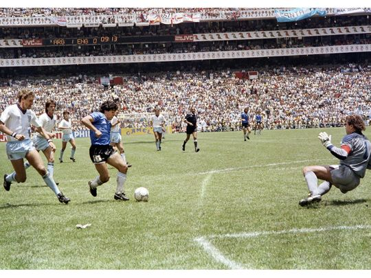 Diego Maradona scored the 'Goal of the Century' against England at Mexico 86.
