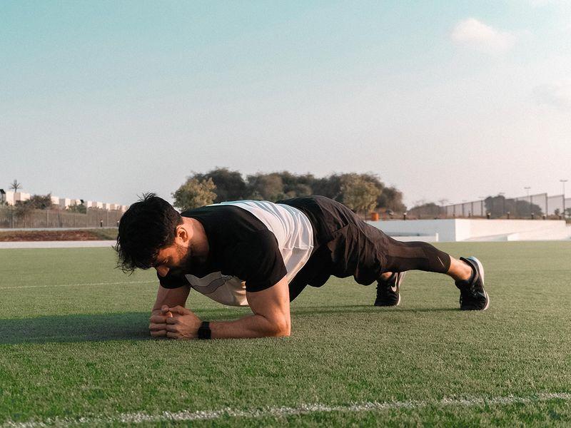 Dubai Health Authority core strength Plank