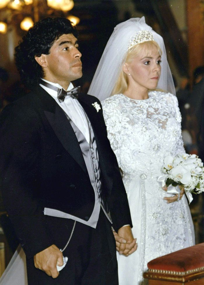 Maradona and Claudia Villafane