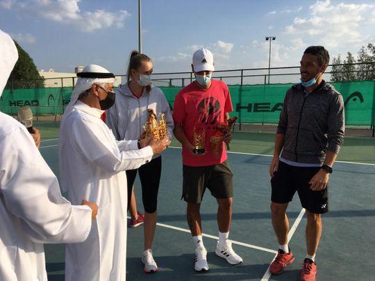 World No. 19 Elena Rybakina visits the Fujairah Tennis and Country Club