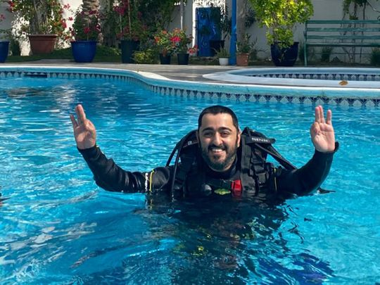 Dubai Police help man of determination realise his dream to learn diving