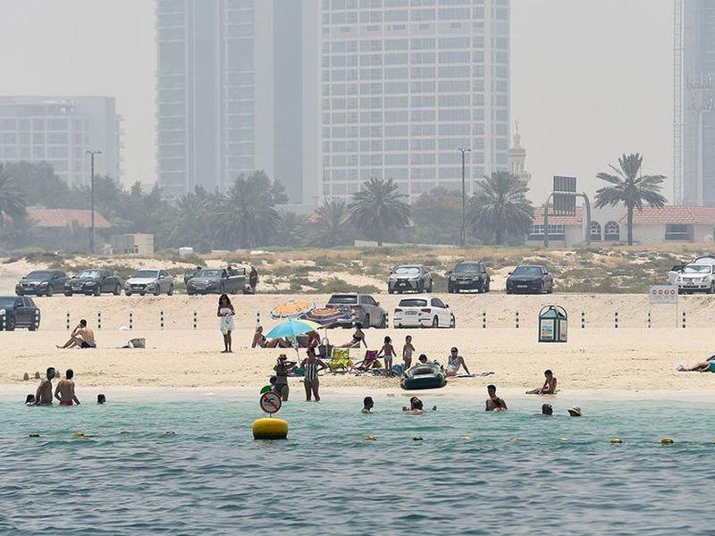 Beach precautions in the UAE during COVID-19
