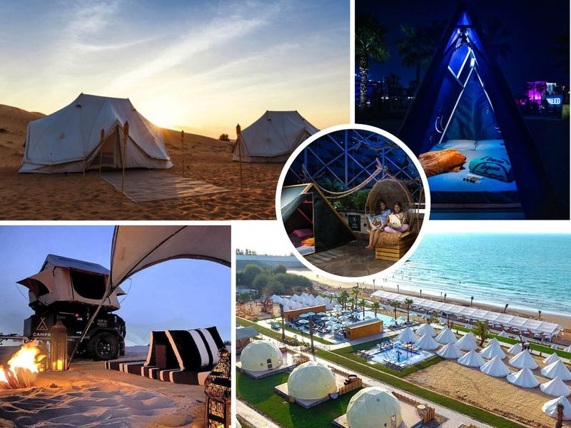 Camping the UAE with kids