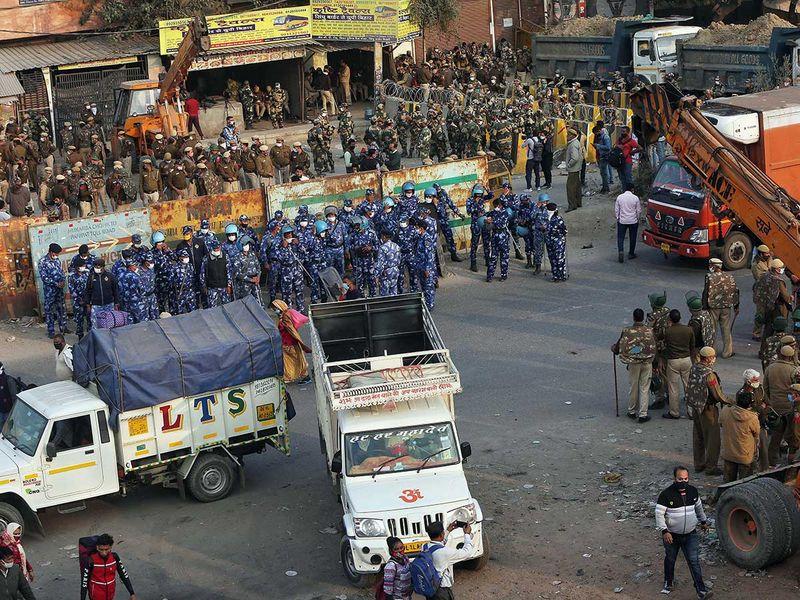 Farmer protest India security
