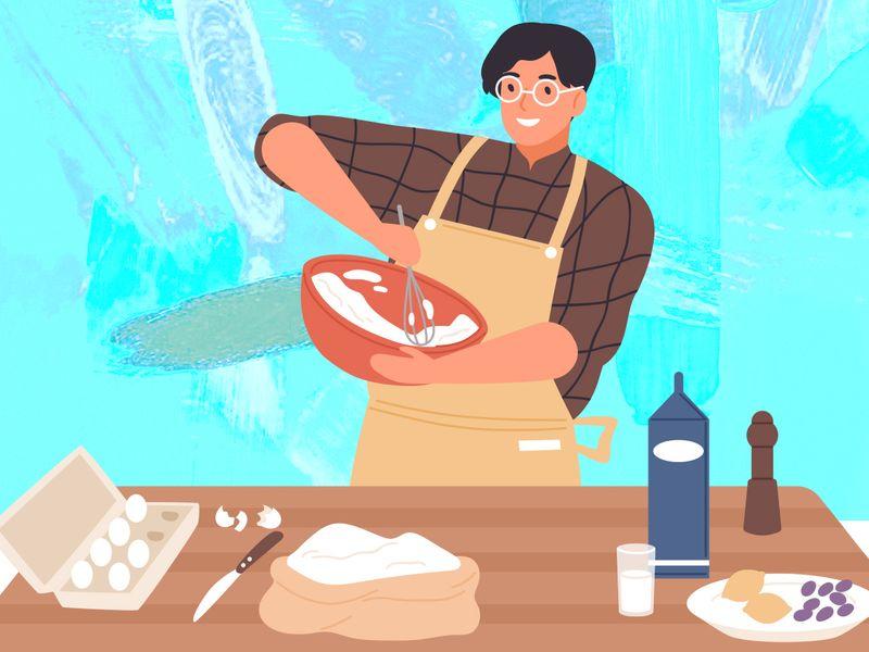 WFH Cooking dad