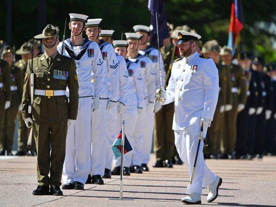 Australia guard troops