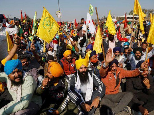 Farmers protest india delhi border