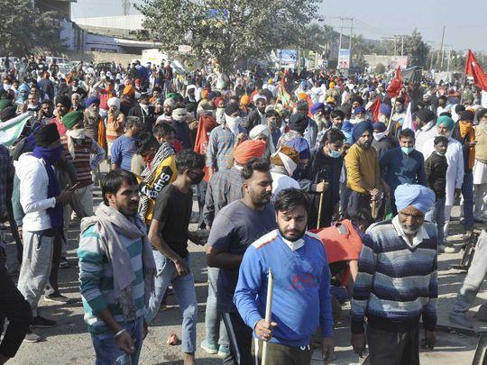 Farmers rally protest india delhi