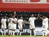 Al Jazira's Ali Mabkhout celebrates his opener against Hatta