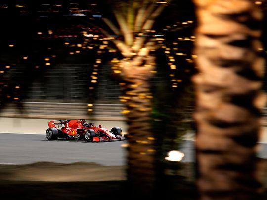 Ferrari's Sebastian Vettel during practice ahead of the Bahrain Grand Prix