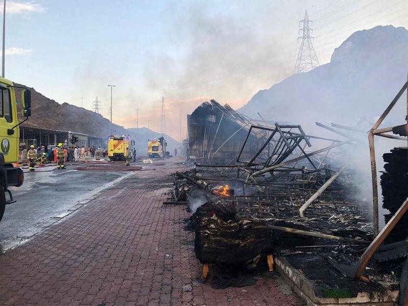 Masafi Friday market fire