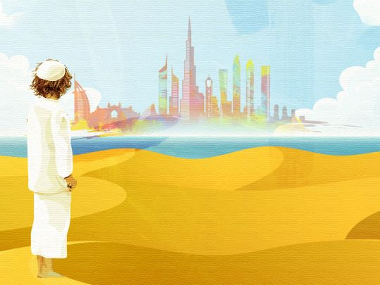 UAE over the years illustration