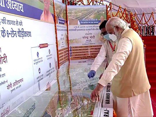 Narendra Modi India varanasi highway