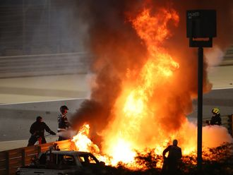 Romain Grosjean walked away from a fireball in Bahrain