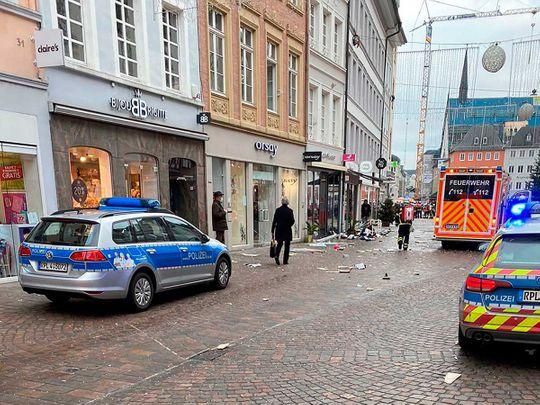 Germany car pedestrian ploughs
