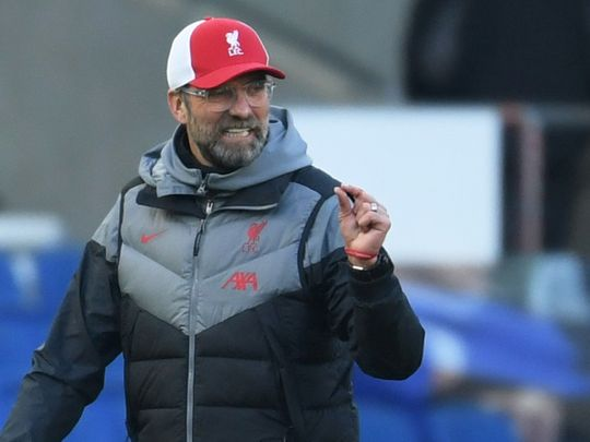 Jurgen Klopp fumes after Brighton draw.