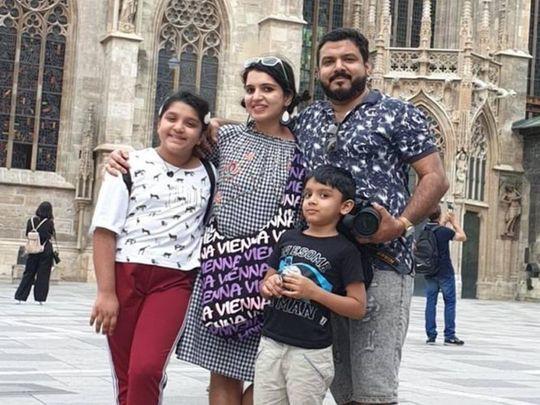 Simimol Raijo with her family-1606886623931