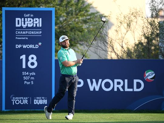 Andy Sullivan continues to lead the Golf in Dubai Championship after two rounds