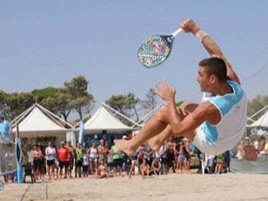 Beach tennis will take place at inaugural event at Al Habtoor Grand Hotel
