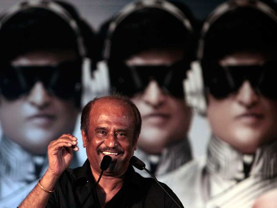 Indian movie superstar Rajinikanth