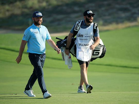 Andy Sullivan during the third round of the Golf in Dubai Championship