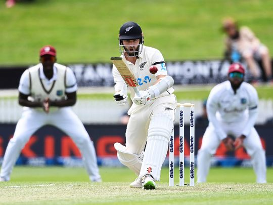 New Zealand's Kane Williamson on his way to a double century against West Indies
