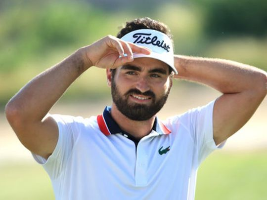 Antoine Rozner is all smiles as he wins the inaugural Golf in Dubai Championship at Jumeirah Golf Estates