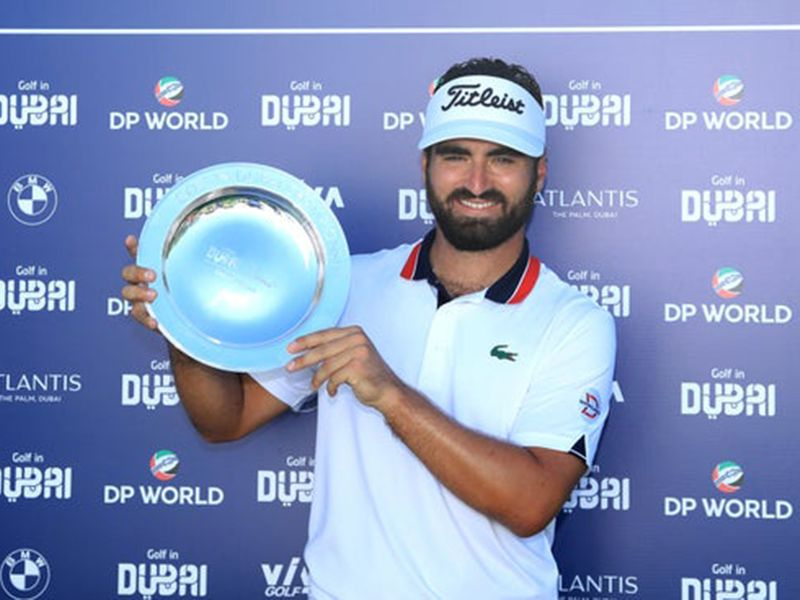 Antoine Rozner with the Golf in Dubai trophy