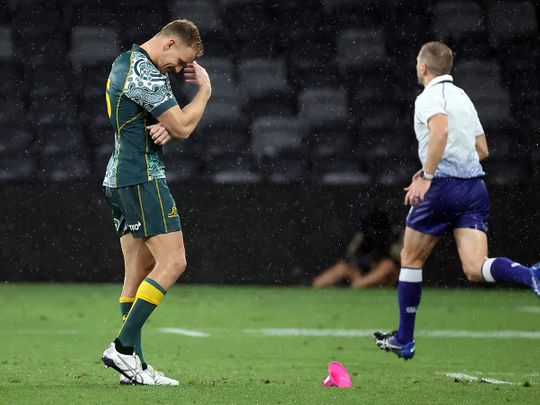 Australia's Reece Hodge missed a vital kick in draw against Argentina