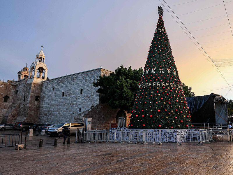 Christmas tree-lighting in Bethlehem