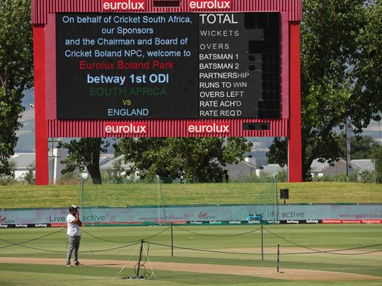 Boland Park in Paarl was set t host South Africa v England before the match was abandoned