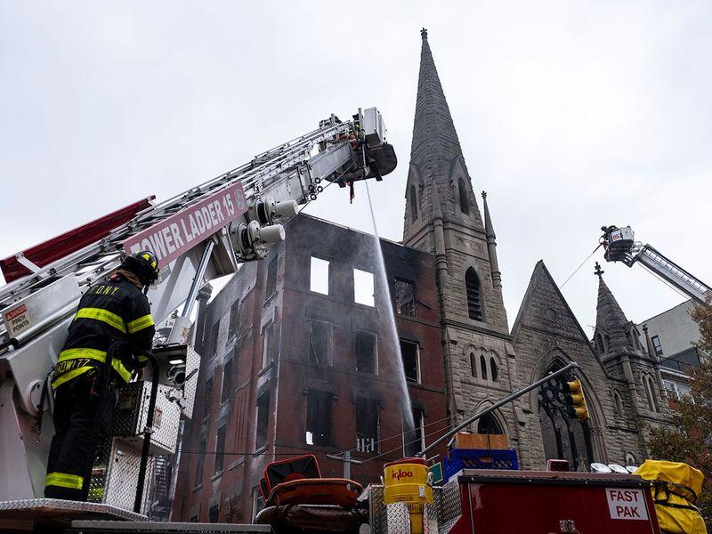 Fire in Church in New York