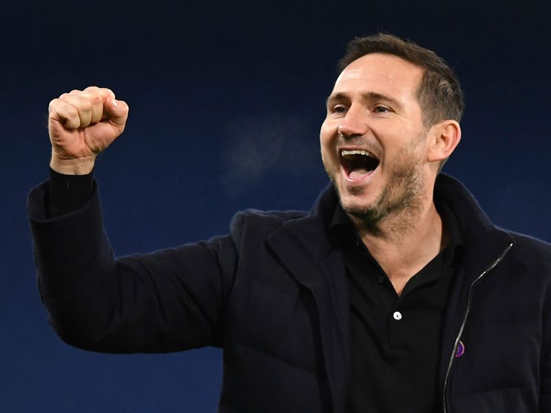 Frank Lampard celebrates Chelsea's win over Leeds United
