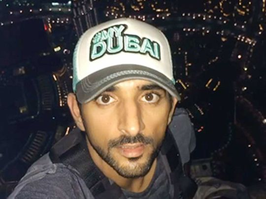 Sheikh hamdan on burj khalifa
